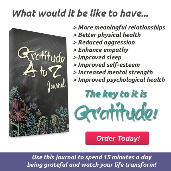 Gratitude A to Z Journal